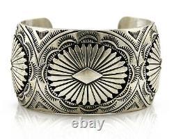 Navajo Cuff Bracelet. 925 Silver Handmade Signed Alvin Yazzie C. 80's