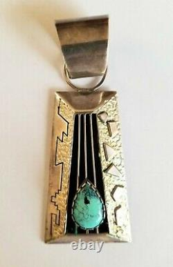Navajo Sterling Silver Turquoise pendant by Alvin and Lula Begay