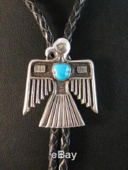 One of a Kind! NAVAJO Handmade Sterling Silver Thunderbird Bolo Alvin Thompson