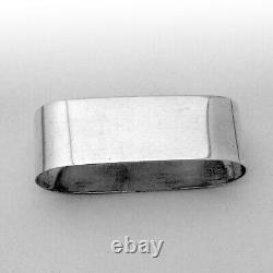 Oval Napkin Ring Alvin Sterling Silver Mono James