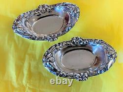 Pair American Sterling Silver Vintage Dishes Alvin Manufacturing Company