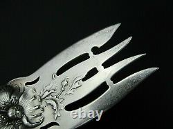 Raphael Sterling by ALVIN Sterling Small Meat Fork 7 3/4 1902 Issued Design