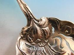 Raphael by Alvin Sterling Silver Pea Spoon 9 Floral Figural Woman Pierced Bowl