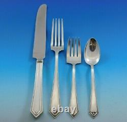 Richmond by Alvin Sterling Silver Flatware Set 12 Service 53 pcs Dinner Scarce