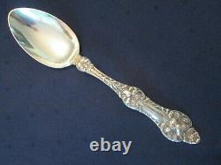 SOLID SERVING SPOON! Vintage ALVIN STERLING 925 silver ORANGE BLOSSOM lovely