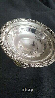 STERLING SILVER FOOTED CANDY BOWL 5 3/4 BY ALVIN S125 CEMENT WEIGH BASE 7.4oz