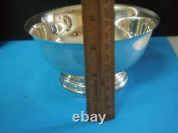 STERLING SILVER Round Vegetable BOWL ALVIN 6 inch 208 grams