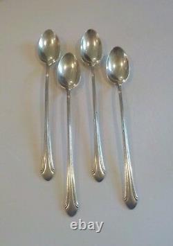 Set/4 Alvin ROMANTIQUE Sterling Silver Iced Tea Spoons