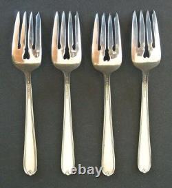 Set of 4 Alvin Sterling Silver 6.5 Salad Forks Miss Alvin Pattern