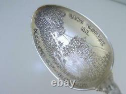 Sterling ALVIN Souvenir Spoon LAKE GEORGE NY Paradise Bay Black Mountain INDIAN