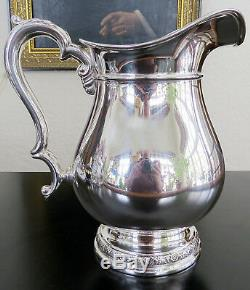 Sterling International Prelude Hand chased WATER PITCHER 21.8 ozt 41/4 p