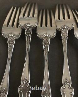 Sterling Silver Alvin Dinner Forks with Nuremburg Pattern