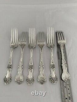 Sterling Silver DINNER SERVICE for 6 Majestic Pattern By ALVIN USA 46 Piece
