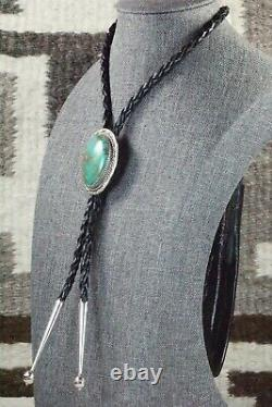 Turquoise & Sterling Silver Bolo Tie Alvin Joe