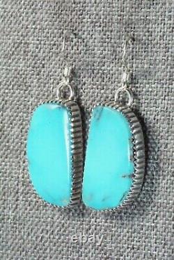 Turquoise & Sterling Silver Earrings Alvin Joe