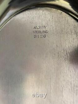 Vintage ALVIN CHATEAU ROSE STERLING S126 Oval BREAD Tray SERVING DISH Floral