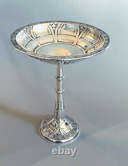 Vintage Alvin Gift Line Sterling Silver 7 1/2 Pedistal Compote Dish
