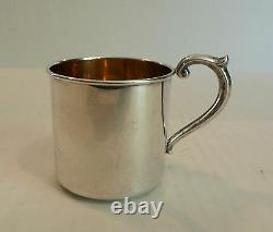 Vintage Alvin Lullaby Sterling Silver & Partial Gilt Baby Cup
