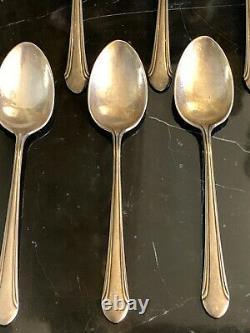 Vintage Alvin Romantique Sterling Silver Pat 1933 Set of 12 Teaspoons 131 Grams