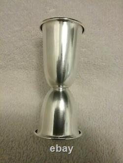Vintage Alvin Sterling Silver Cocktail Shaker Companion Jigger Excellent Shape