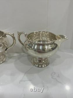 Vintage Alvin Sterling Silver Creamer and Sugar Bowl from the 1940's S239 142g