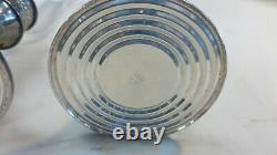 Vintage Alvin Sterling Silver S217 Weighted Candle Holder With Etched Glass