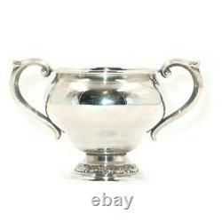 Vintage Alvin Sterling Silver S219 Hollowware 3 Open Sugar Bowl, 70.87 Grams
