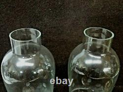 Vintage Alvin Sterling Silver S294 Weighted Candle Holder With Etched Glass