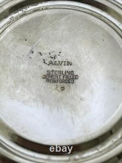 Vintage Alvin Sterling Silver Wine Brandy Pitcher And Glasses z223