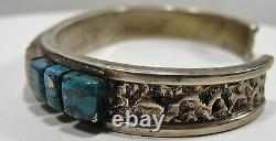 Vintage, American Native, Bracelet, Sterling Silver, Signed, Alvin Yellowhorse