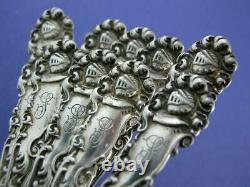 10 Sterling Alvin Demitasse Spoons Edward VII 1899 Tête De Chevalier
