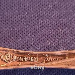 6 Alvin Bridal Rose Sterling Silver Bouillon Spoons Pas De Mono