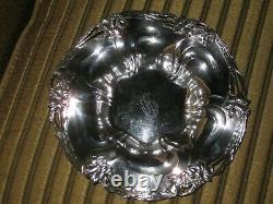 Alvin 7 1/4 Sterling Silver Bowl Daffodils Buttercups #1050 Hallmark 144 Grammes