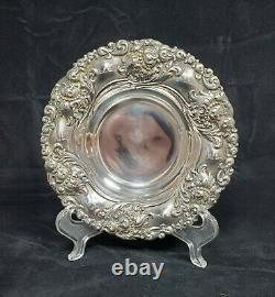 Alvin Art Nouveau Repousse Sterling 925 Silver Bowl Nut Bon De Cuisson #464 Dent Minuscule