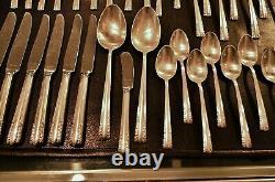 Alvin Chapel Bells 925 Sterling Silver 49 Pièce Flatware Set