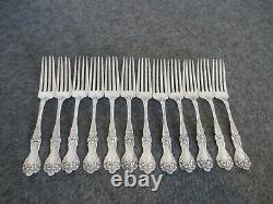 Alvin Lot De 12 Sterling Silver (487grams) Majestic Pattern Forks Art Nouveau 7