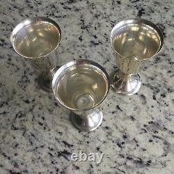 Alvin Lullaby Solid Sterling Silver Goblets Wine Water Cups Ensemble De 3, S250