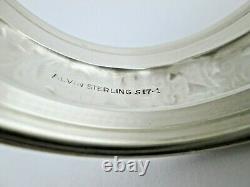Alvin Rond De Serviette En Argent Sterling S17-1 Ensemble De 4 Monos Non