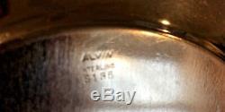 Alvin S135 Ornement En Argent Sterling 9 Pouces Bowl 189,9 Grammes