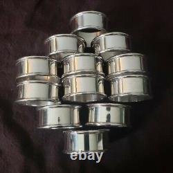 Alvin Set Argent Sterling 6 Rond Napkin Ring R Monogram 2 Sets Disponibles