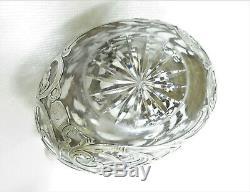 Alvin Sterling 1000 Fine Overlay Verre En Cristal Decanter