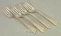 Alvin Sterling Silver 1932 Bridal Bouquet Fourches Set 4 Dessert Salade 6,5 146g