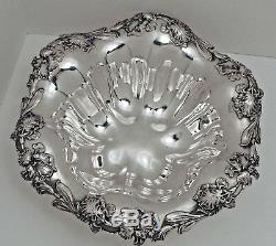Alvin Sterling Silver Bowl Iris Border En Japonais Esthétique Style C. 1900