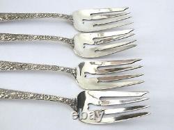 Alvin Sterling Silver Bridal Bouquet 4 Place Paramètres Fourchettes Couteaux Cuillères Salade