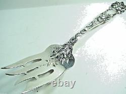 Alvin Sterling Silver Bridal Rose Grande Fourchette De Viande Froide 9 1/8 No Mono No Remval