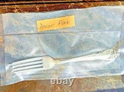 Alvin Sterling Silver Flatware Chateau Rose Dinner Fork 7 1/4 46g 1940