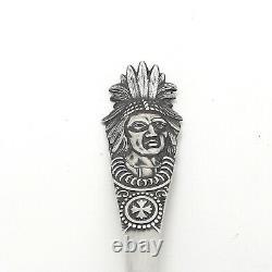 Alvin Sterling Silver Paradise Bay Lake George Ny Souvenir Spoon Amérindienne