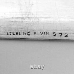 Anneau De Serviette Ovale Alvin Sterling Argent Mono James