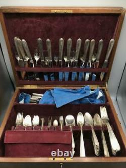 Antikes Besteckset Alvin En 1931, Für 12 Personen, Argent Sterling
