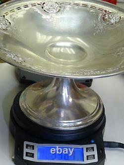 Antique Alvin Solid Sterling Silver Piédestal Compote Bowl 9 X 4.75 / 346g